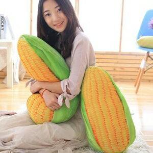 美麗大街【HB107041323】仿真玉米抱枕創意蔬菜毛絨玩具玩偶(50cm)