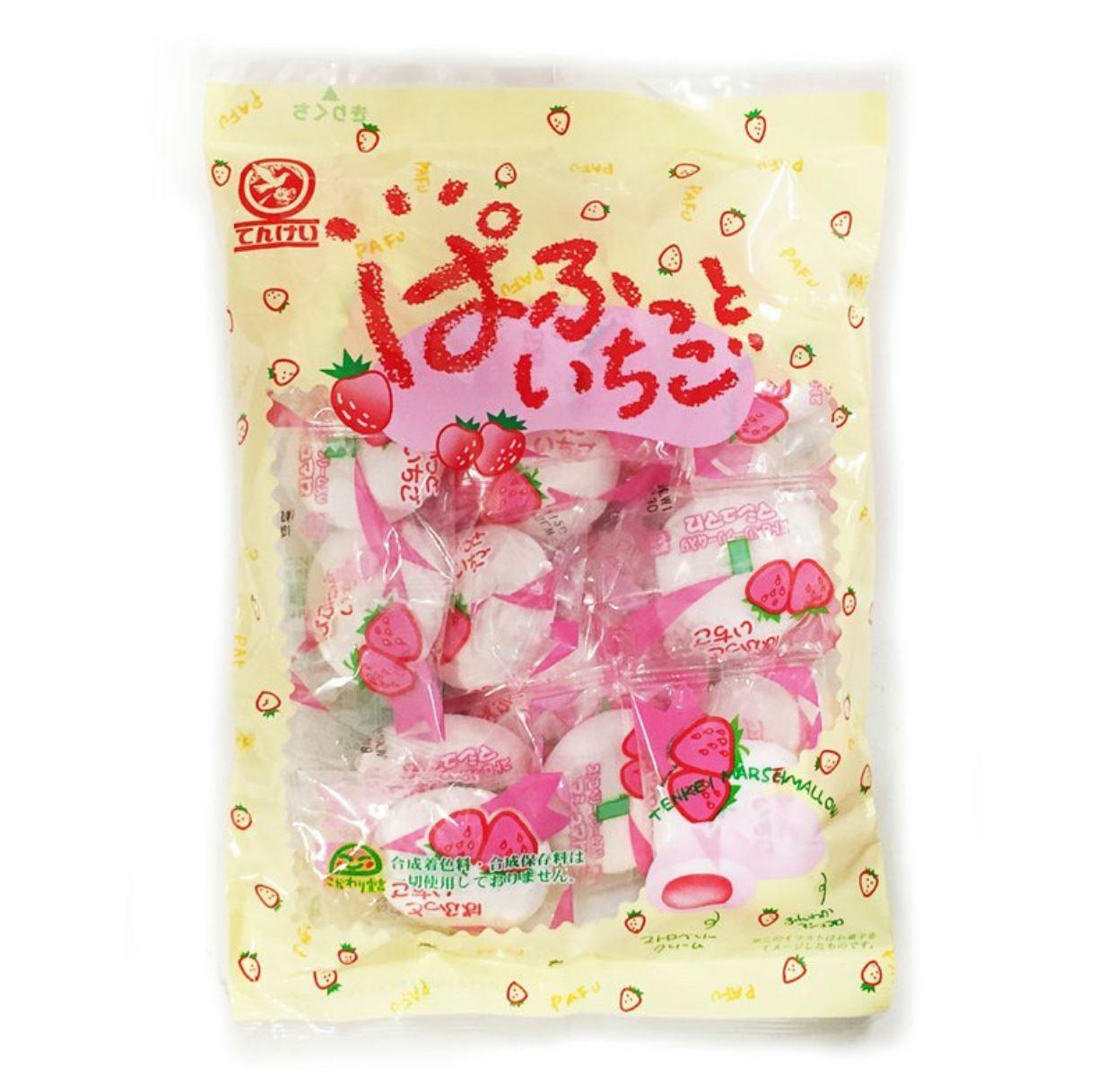 天惠 草莓夾心棉花糖 110g