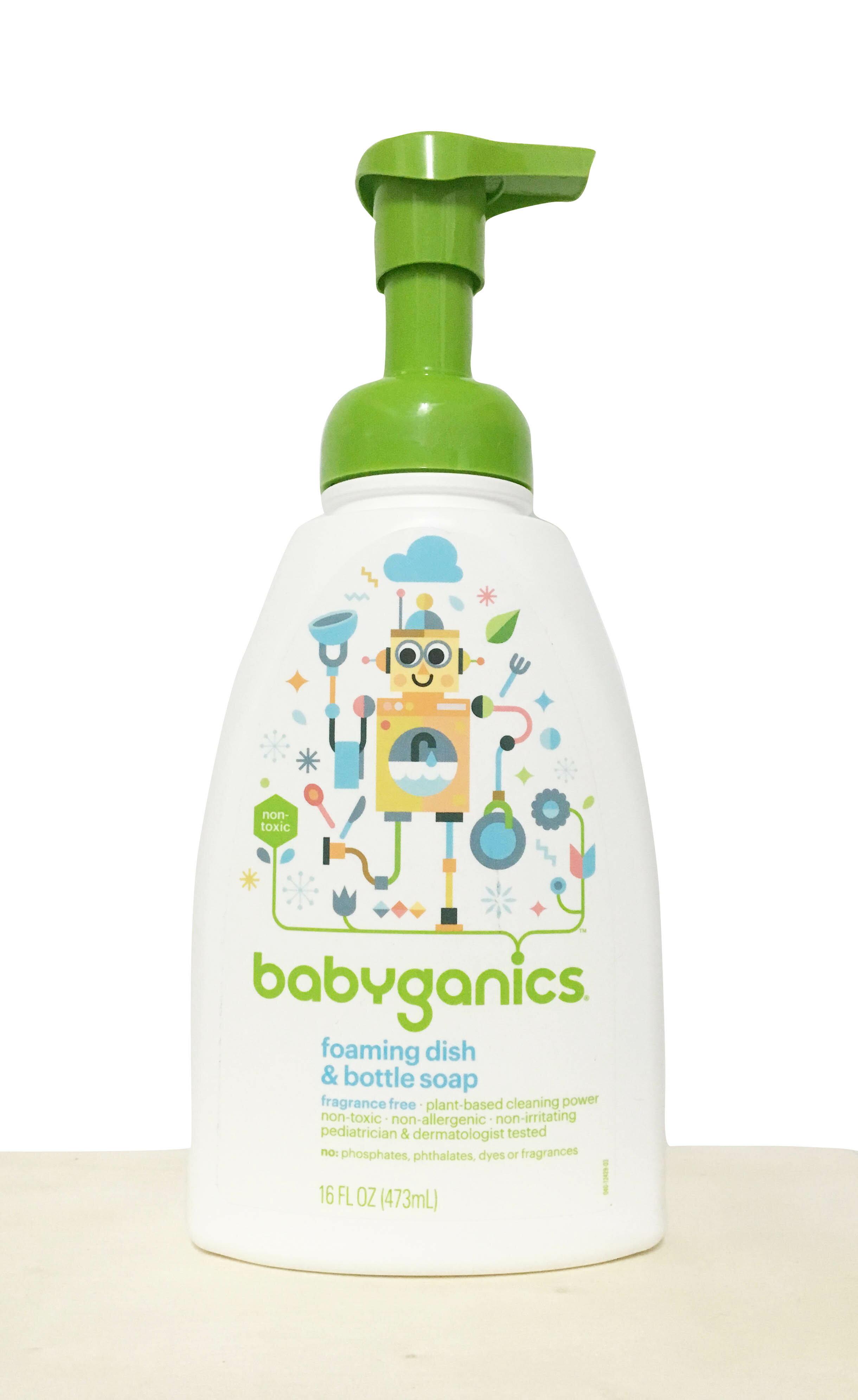 《★美國Babyganics》餐具清潔慕斯-無香味473ml 正品美國代購 平行輸入 溫媽媽