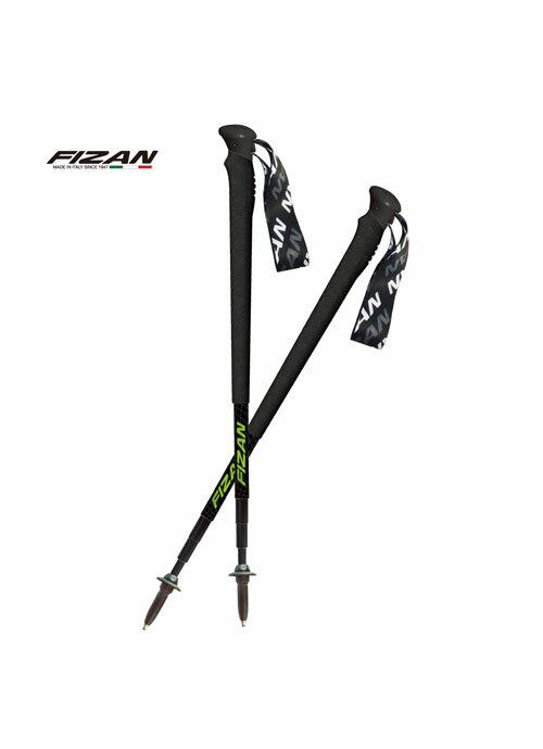 【【蘋果戶外】】成對銷售 FIZAN 黑/黑 超輕四節式多功能健行登山杖2入特惠組 超輕178g 超短49-125cm