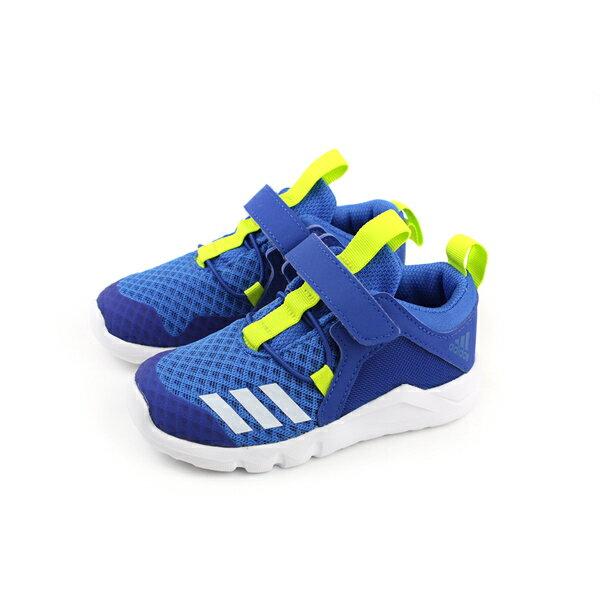 adidasRapidaFlex2ElI慢跑鞋運動鞋魔鬼氈童鞋藍色小童CQ0096no532