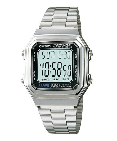【CASIO】【男錶】【數位顯示錶】A178WA-1A 台灣公司貨 保固一年 附原廠保固卡
