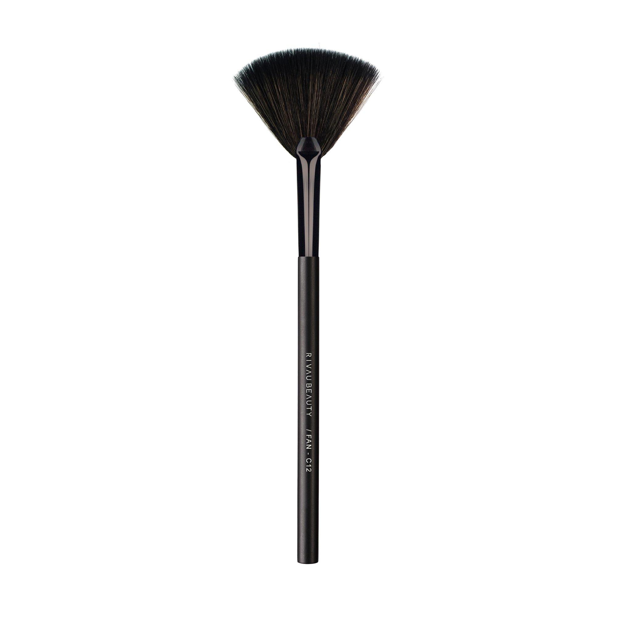 C12 扇型刷 - 黑色系列 / 餘粉刷 打亮刷 化妝刷 刷具 IG 網紅 部落格 推薦 禮物