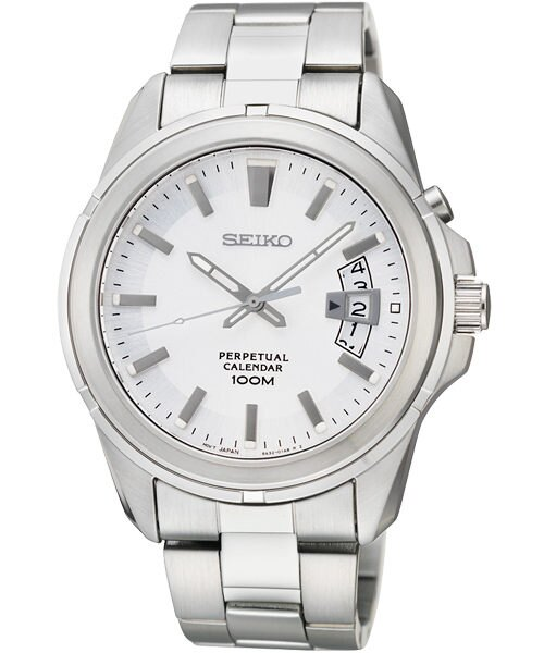 Seiko 6A32~00W0S萬年曆簡約腕錶 白面40mm ~  好康折扣