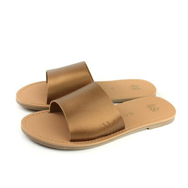 MALVADOSICON經典系列涼鞋拖鞋古銅色女鞋3007-1741no019