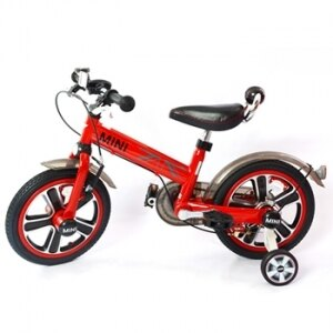 ★衛立兒生活館★英國Mini Cooper 兒童腳踏車14吋-辣椒紅