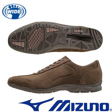 B1GC162355 (深咖啡) WAVE LD40 CROSS 兼具上班及休閒穿著兩立時尚設計的寬楦健走鞋【美津濃MIZUNO】