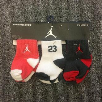 BEETLE 現貨 AIR JORDAN 6 PAIR PACK SOCKS 喬丹 嬰兒襪 粉紅 灰 紅 6雙組合 寶寶