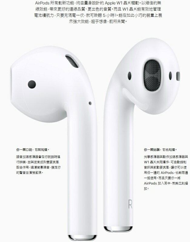 Apple 蘋果 AirPods 藍芽耳機 二代 台灣公司貨 1