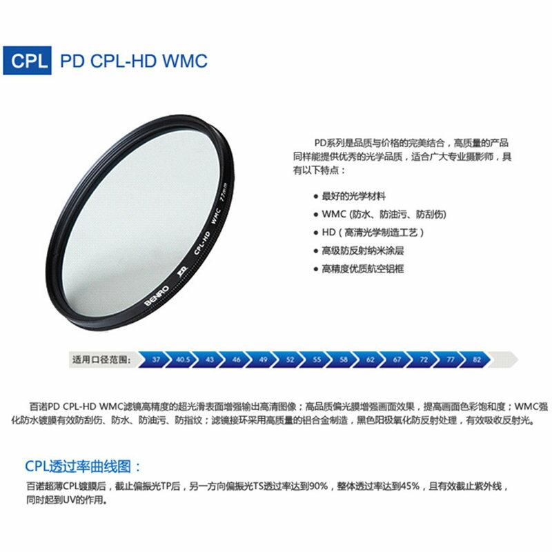 ◎相機專家◎ BENRO 百諾 62mm PD CPL-HD WMC 薄框防刮防撥水抗油汙多層膜環型偏光鏡 勝興公司貨