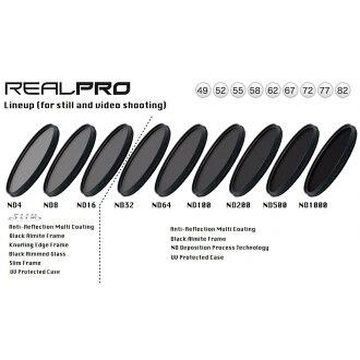 ◎相機專家◎ Kenko RealPRO ND8 49mm 薄框防水抗油汙多層膜減光鏡 減3格 正成公司貨