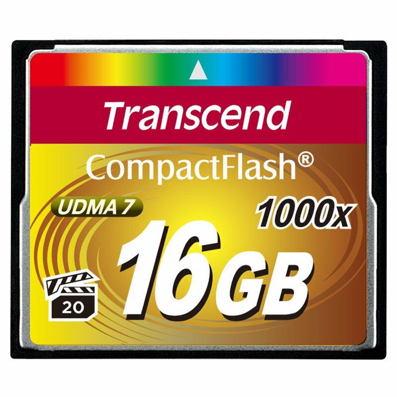 ◎相機專家◎ Transcend 創見 16G CF 1000X 16GB 支援4K錄影 公司貨終身保固