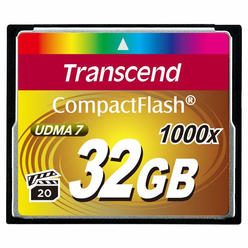 ◎相機專家◎ Transcend 創見 32G CF 1000X 32GB 支援4K錄影 公司貨終身保固
