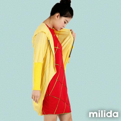 【Milida,全店七折免運】-早春商品-外套款-連帽前短後長風 1