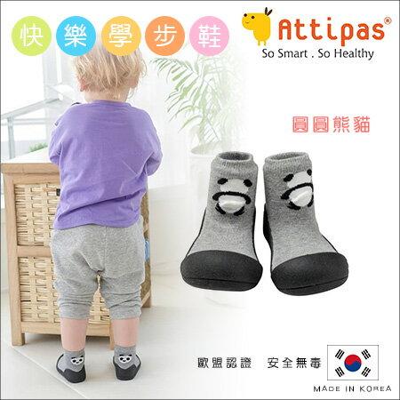 ✿蟲寶寶✿【韓國Attipas】寬頭好穿脫 寶寶襪型 快樂學步鞋 / 襪鞋 - 圓圓熊貓