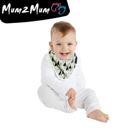 Mum 2 Mum 雙面竹纖維棉機能口水巾圍兜-印地安帳篷/X號【悅兒園婦幼用品館】