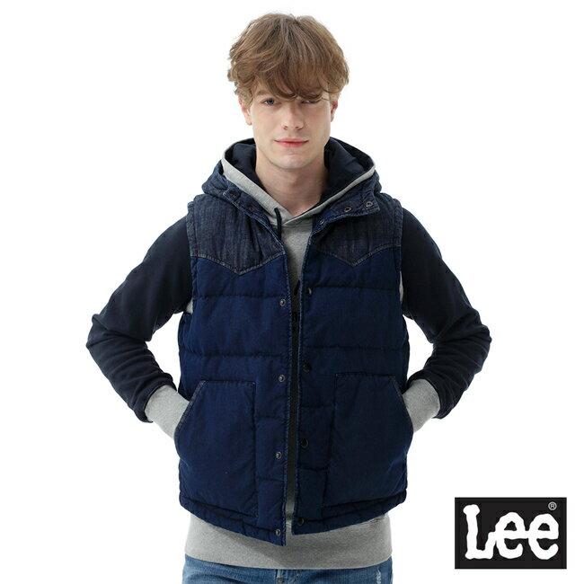 Lee 連帽羽絨背心 / RG-深藍色-男款 2