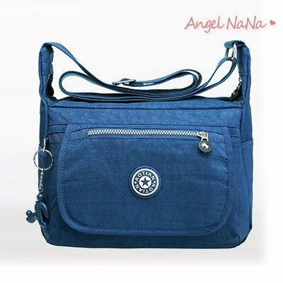 水洗布側背包-防潑水防刮耐磨超輕量大容量斜背包 AngelNaNa 【BA0235】