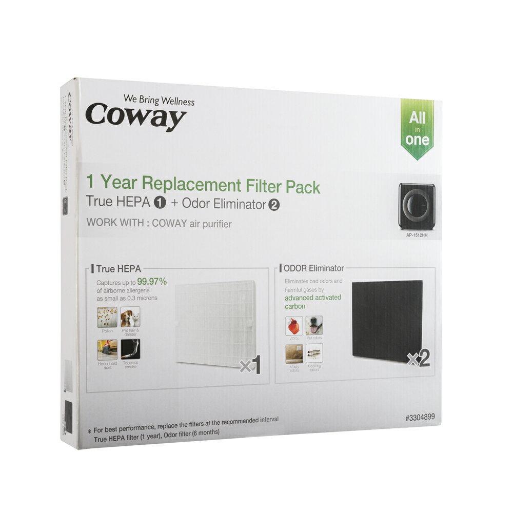 <br/><br/>  Coway空氣清淨機一年份濾網【旗艦環禦型 AP-1512HH】<br/><br/>