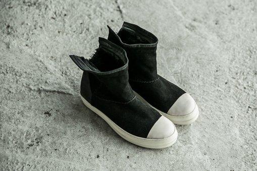 FINDSENSEMD日系高品質時尚潮男黑白高幫低跟休閒鞋短靴
