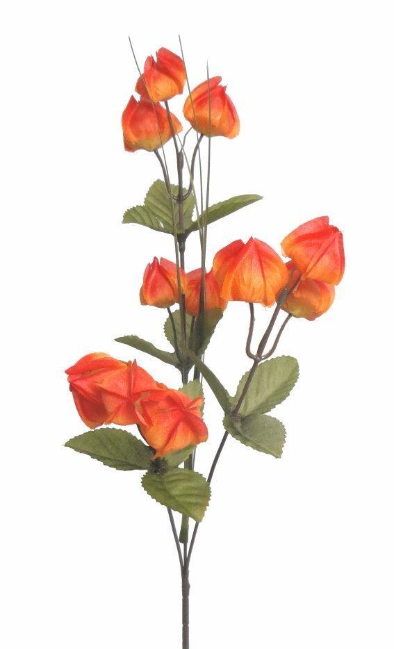 ★超低價★26吋 三叉宮燈花-橙紅 / 人造花 空間 景觀 佈置 造景