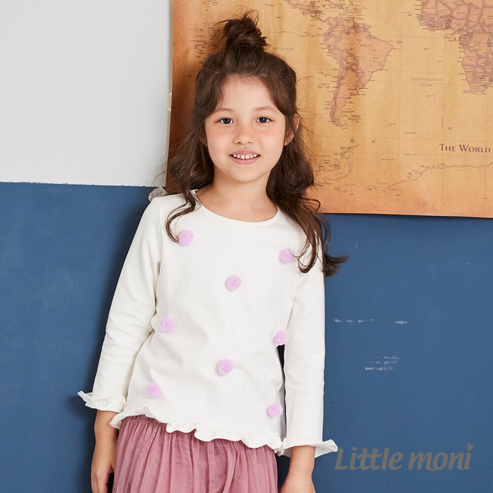 Little moni 立體花朵上衣-白色(好窩生活節) 1