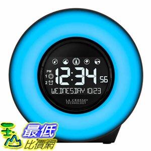 [8美國直購] 掛鐘 La Crosse Mood Light LCD Alarm Clock with Nature Sounds A1230466