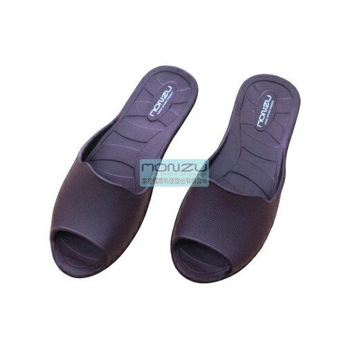 Monzu 滿足 3S零著感 室內拖鞋(咖啡色)-L