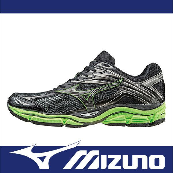 MIZUNO WAVE ENIGMA 6 男 慢跑鞋 黑綠 休閒鞋│運動鞋│健走鞋 J1GC161152