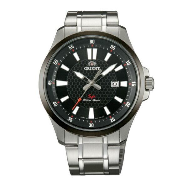 Orient 東方錶(FUNE1001B)運動風石英腕錶/黑面42mm
