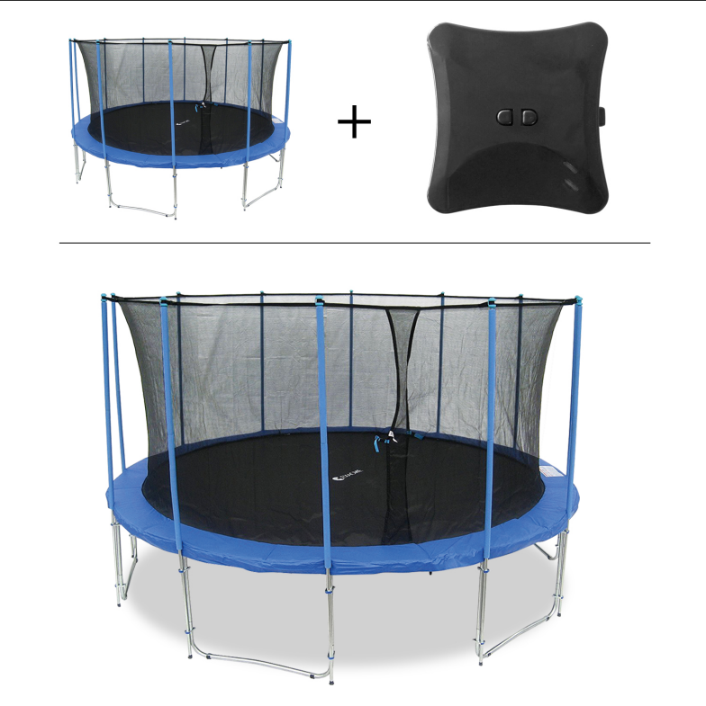 ExacMe 2019 Smart Trampoline High Weight Limit 10FT Frame with Inner Safety  Enclosure and Jumping Detector | Bluetooth Energy Calculator APP (C10)