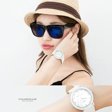 范倫鐵諾Valentino 簡約刻度珍珠貝面真皮腕錶 多角度切割手錶 柒彩年代【NE1572】單支售價 - 限時優惠好康折扣
