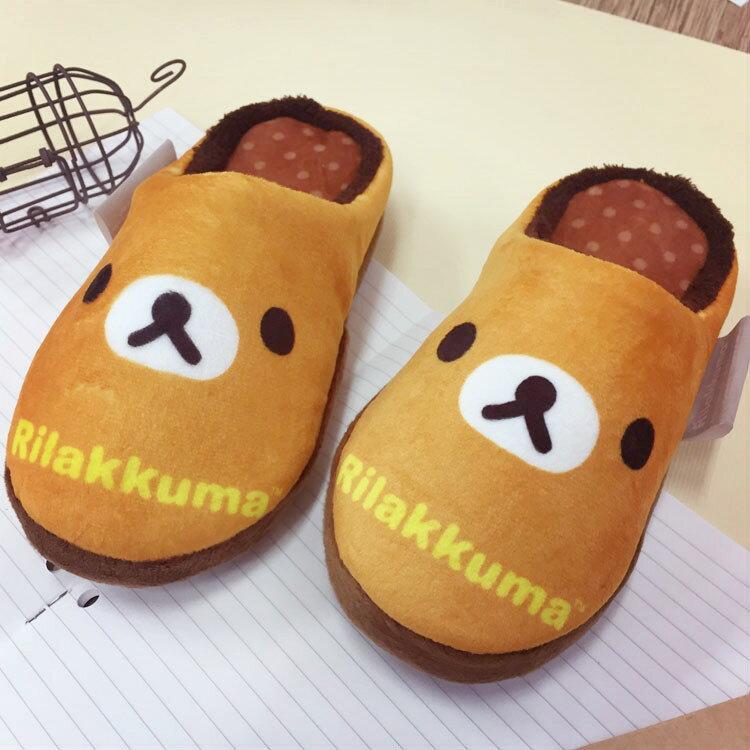 PGS7 日本卡通系列商品 - 拉拉熊 絨毛 拖鞋 包頭鞋 鞋子 室內拖 拉拉雄 懶懶熊 鬆弛熊【SFV6822】