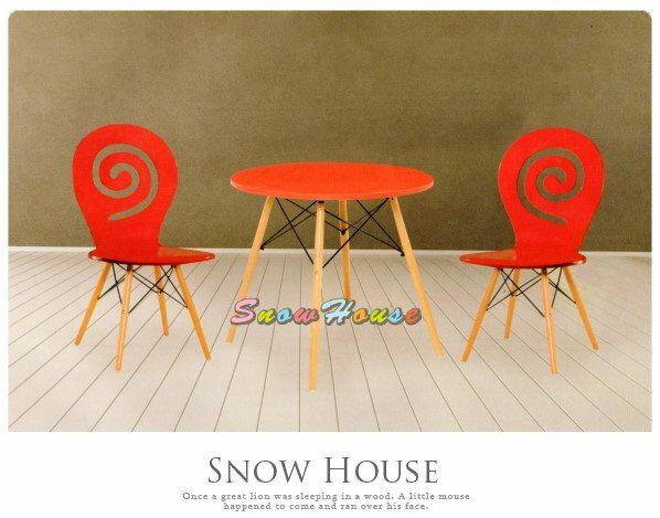 ╭☆雪之屋居家生活館☆╯AA604-0304S5造型圓桌(紅色)洽談桌餐桌茶几咖啡桌(不含椅子)