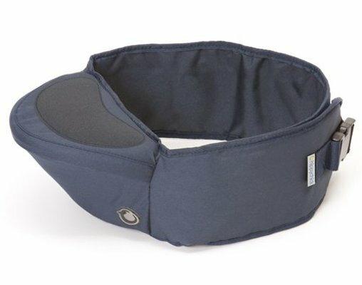 英國 Hippychick Hipseat 新款坐墊式抱嬰腰帶(有防滑軟座墊) 藍色*夏日微風*