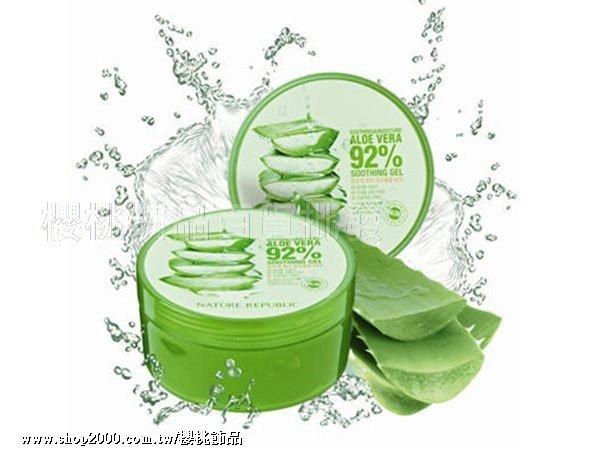 韓國 Nature Republic 92% 蘆薈補水修護 保濕凝膠 【櫻桃飾品】【20016】