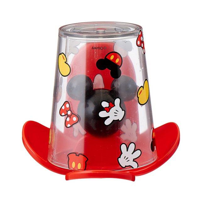 韓國製 迪士尼 米奇 漱口杯附收納架 兒童漱口杯 牙刷杯 牙刷架牙刷置盒 韓國進口正版 064020