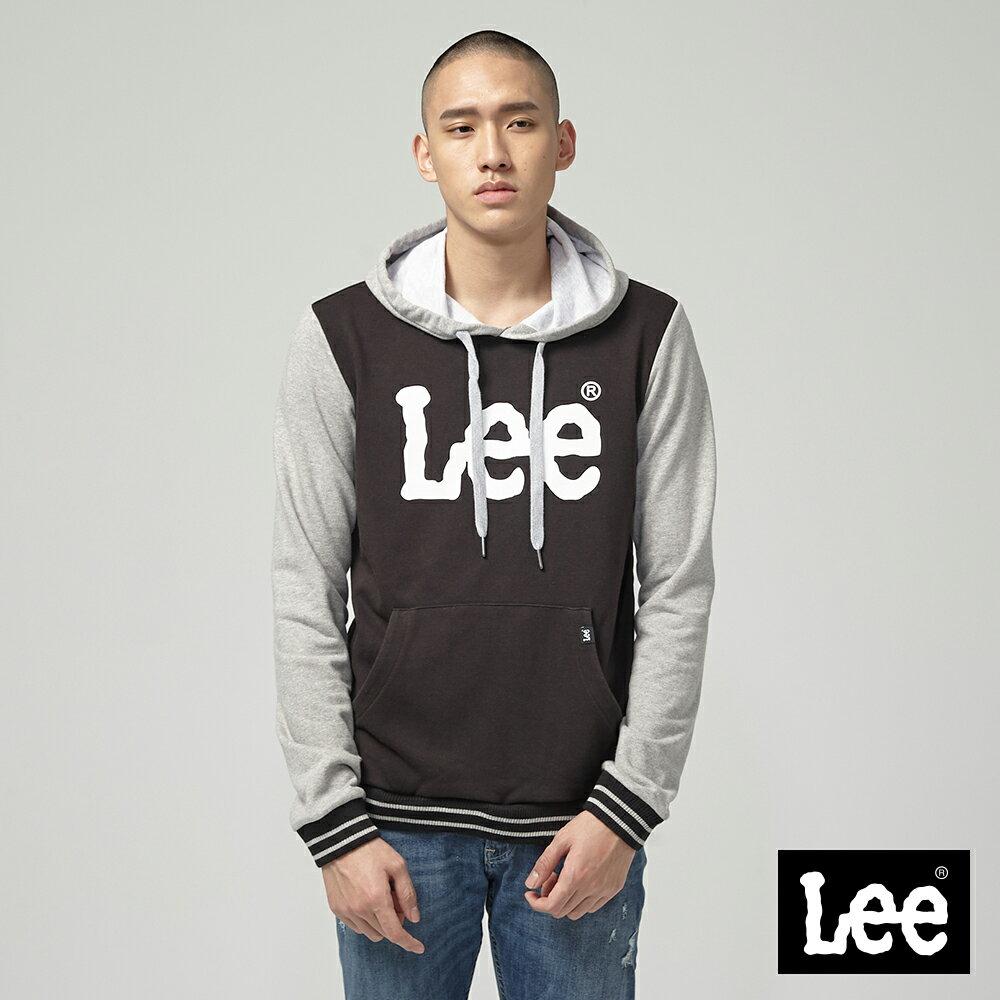 Lee 大LOGO長袖連帽TEE恤 / RG 0