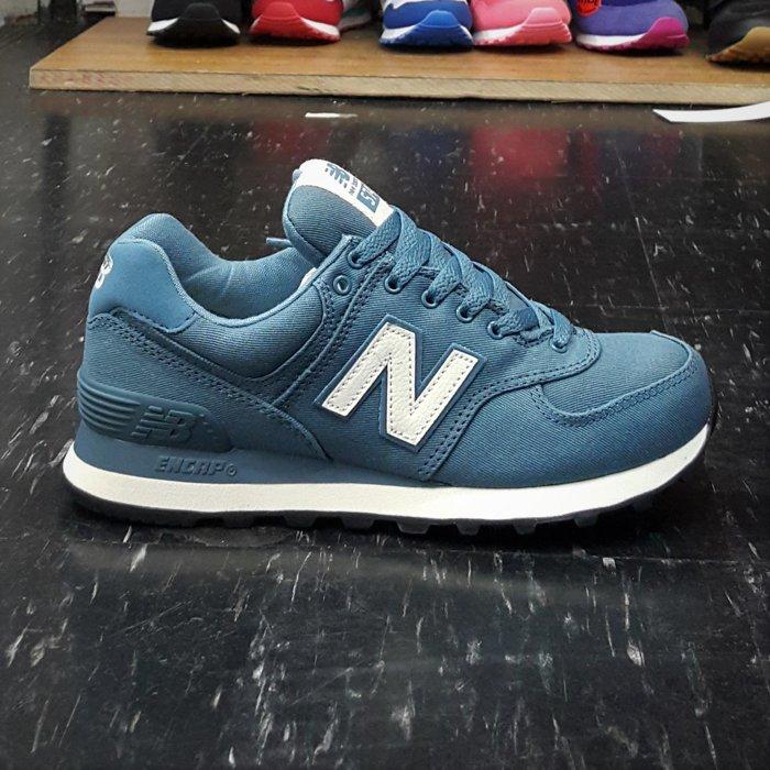 new balance nb 574 WL574MDC 藍色 土而其藍 復古藍 刷舊感 復古 帆布 基本款 慢跑鞋