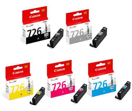 【 耗材】CANON 墨水匣CLI-726BK  CLI-726GY  CLI-726C
