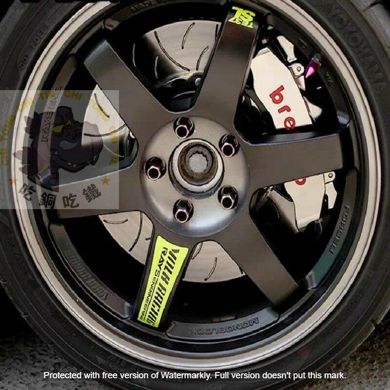 現貨發出TE37 RAYS 低趴JDM輪框反光貼紙個性改裝雷射貼 多色貼 機車貼 潮貼 五爪框 鋁圈 BBS