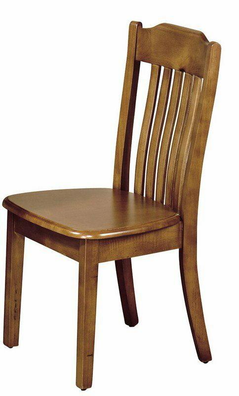【石川家居】YE-A476-13 查理柚木色實木餐椅 (單張)(不含餐桌與其他商品) 台北到高雄搭配車趟免運