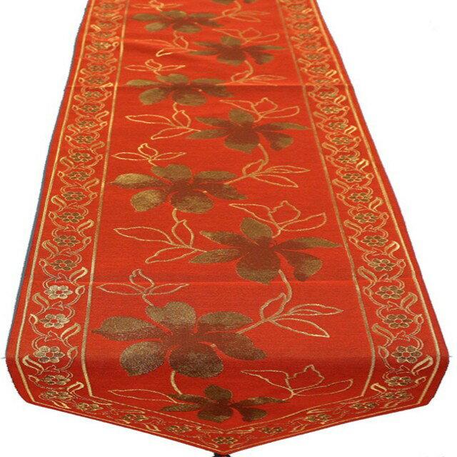 ~巴芙洛~歐風精緻桌旗~32x180cm~紅色