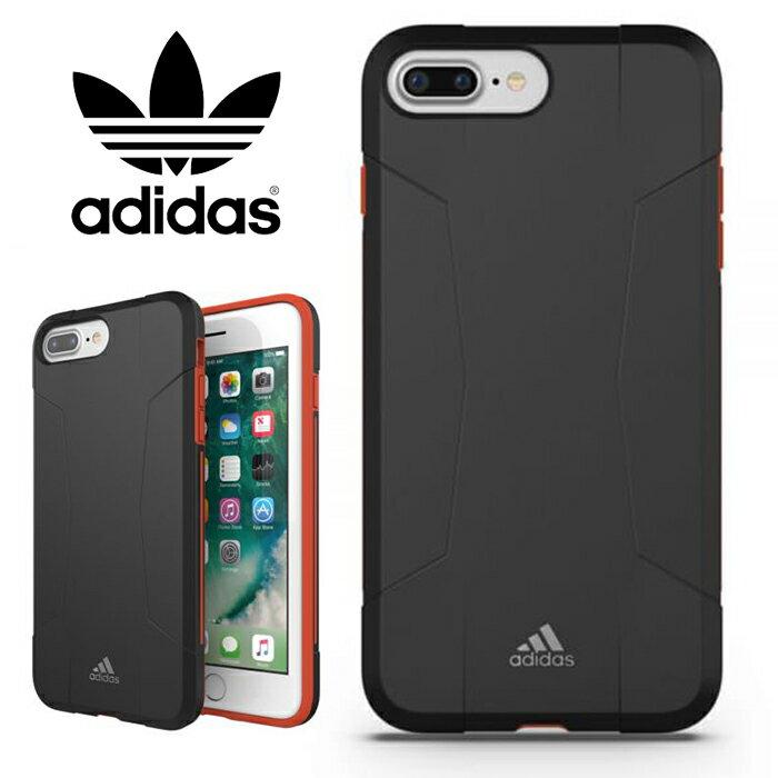 adidas Performance Solo 運動鎧甲 5.5吋 iPhone6/6s/7/8 Plus 黑紅 背蓋/手機套/保護套/手機殼/29583/TIS購物館