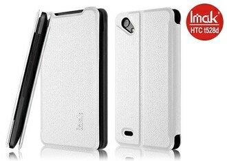 ~香港IMAK~十字紋超薄支架皮套 ^~米白^~ HTC One SC T528D ^~