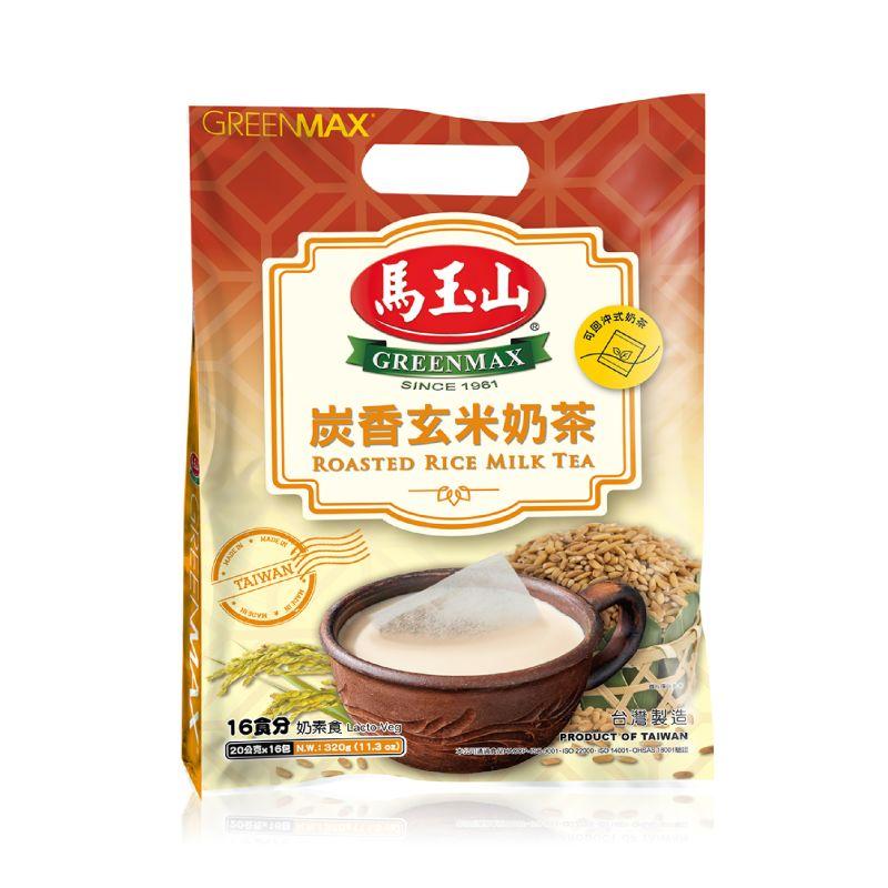 【馬玉山】炭香玄米奶茶(16入)新品上架▶全館滿499免運