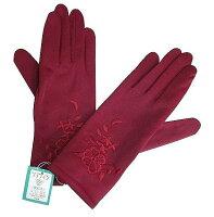 保暖配件推薦手套推薦到日本 秋冬裏起毛 絲棉繡花保暖手套  (4色選擇)就在露比私藏推薦保暖配件推薦手套