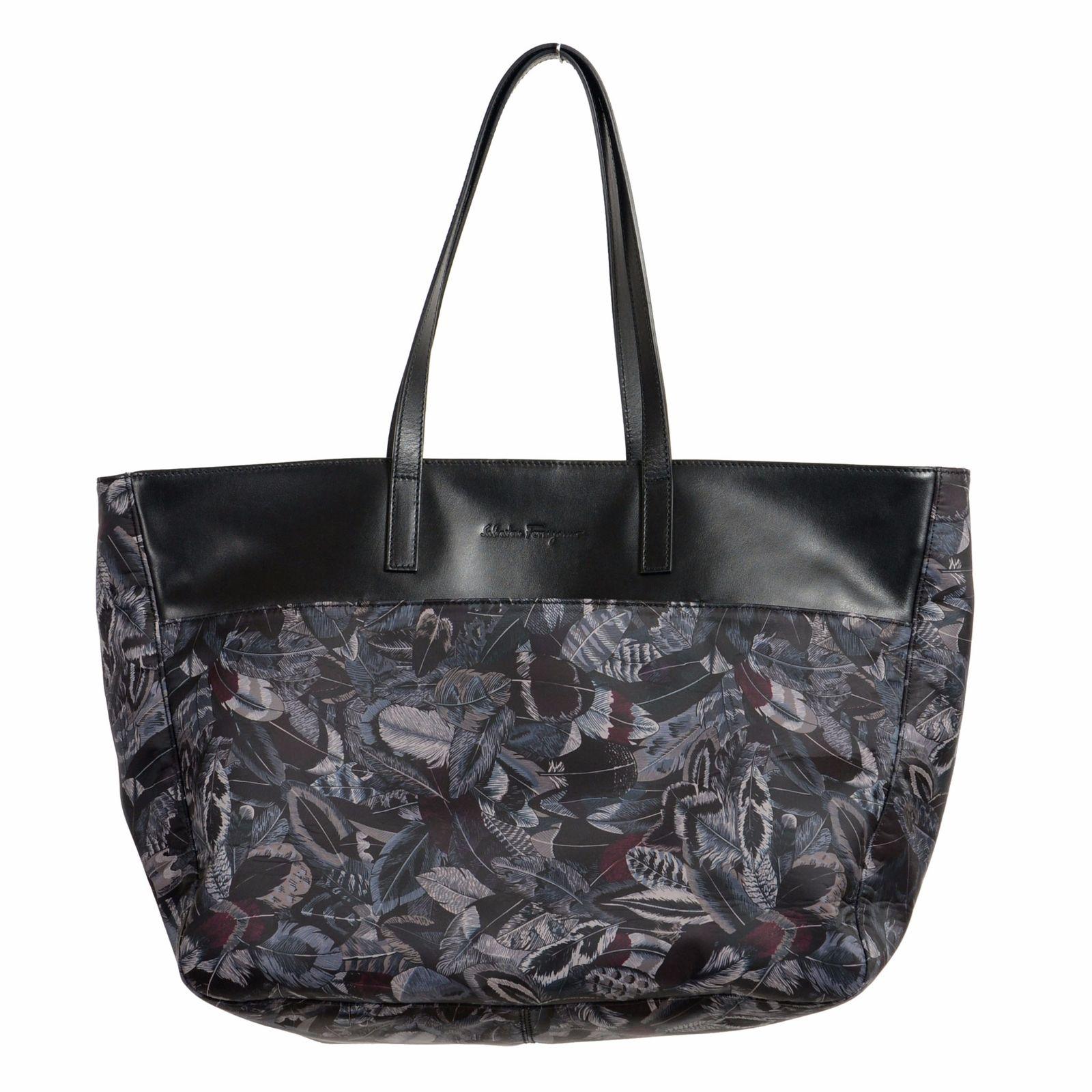 Salvatore Ferragamo Multi-Color Calf Leather Trim Women s Handbag Shoulder  Bag 0 ded2ca9f26