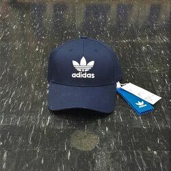 adidas TREFOIL CAP 三葉草 老帽 帽子 鴨舌帽 棒球帽 藍色 黑色 黑白 LOGO 經典 BK7277 DV0174
