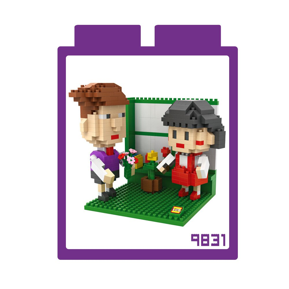 強尼拍賣~ LOZ 迷你鑽石小積木 小丸子系列 樂高式 組合玩具 益智玩具 原廠正版
